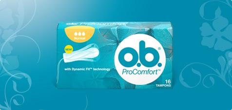 Foto di una confezione di O.B.® ProComfort™.